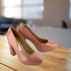 Zapato Clásico Plataforma Charol