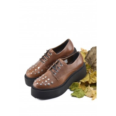 Zapato De Cuero Cordon