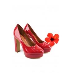 Zapato Clásico Plataforma Charolado
