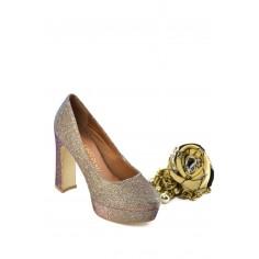Zapato Clásico Brillos Plataforma