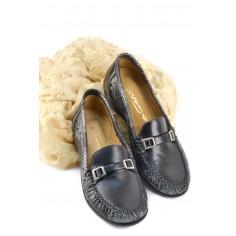 Zapato De Cuero Calado